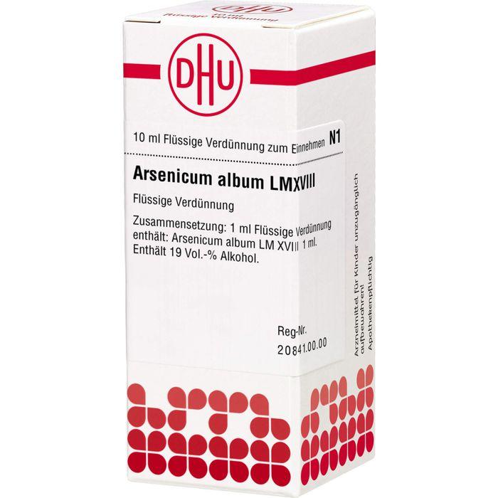 ARSENICUM ALBUM LM XVIII Dilution