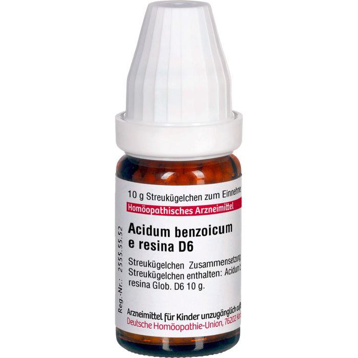 ACIDUM BENZOICUM E Resina D 6 Globuli