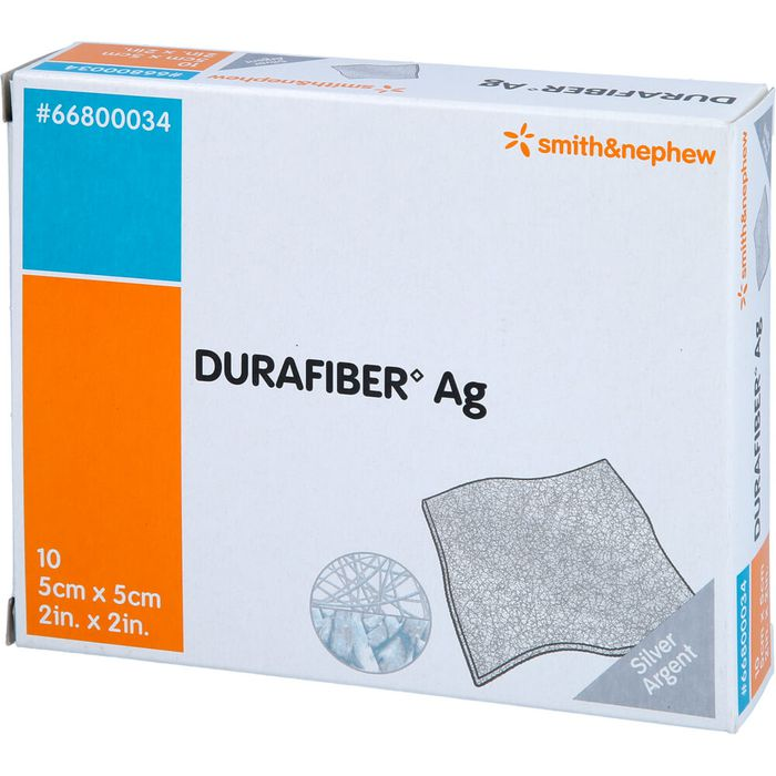 DURAFIBER Ag 5x5 cm Verband