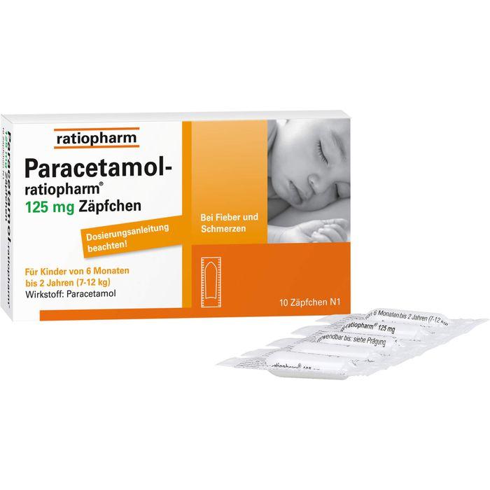 PARACETAMOL-ratiopharm 125 mg Zäpfchen