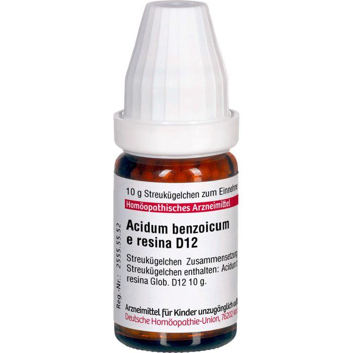 ACIDUM BENZOICUM E Resina D 12 Globuli