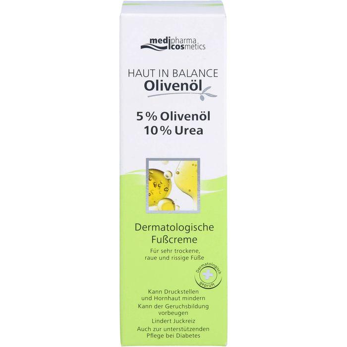 Medipharma Cosmetics HAUT IN BALANCE Olivenöl Fußcr.5%Oliven.10%Urea