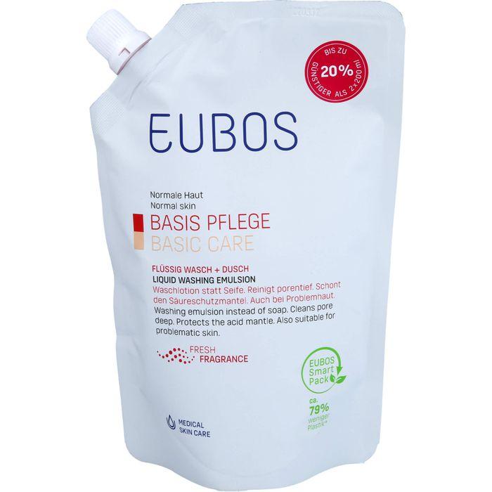 EUBOS BASIS PFLEGE FLÜSSIG Wasch+Dusch rot Nachfüllbeutel