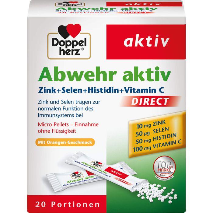 DOPPELHERZ Abwehr aktiv direct Zink+Selen+Histidin+Vitamin C