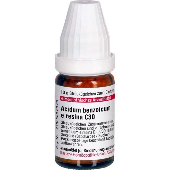 ACIDUM BENZOICUM E Resina C 30 Globuli