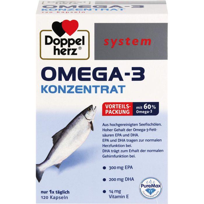 DOPPELHERZ Omega-3 Konzentrat system Kapseln