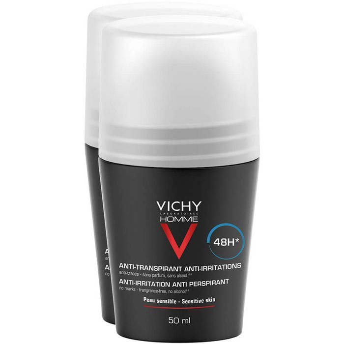 VICHY HOMME Deo Roll-on für sensible Haut 48h Doppelpack