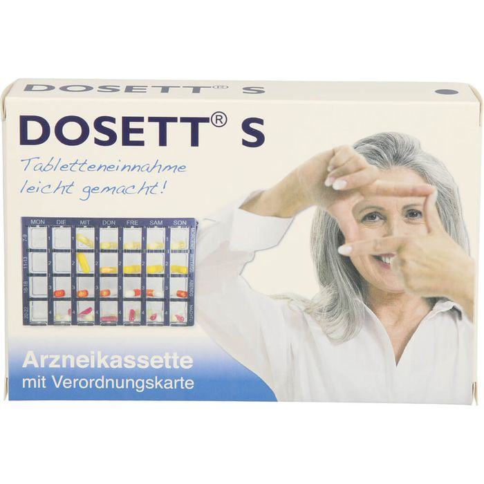 DOSETT S Arzneikassette blau