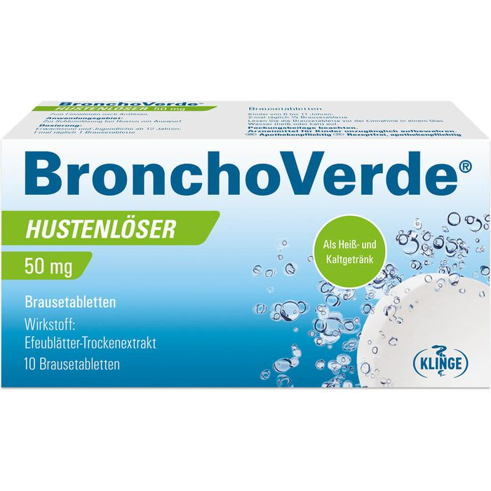 BRONCHOVERDE Hustenlöser 50 mg Brausetabletten