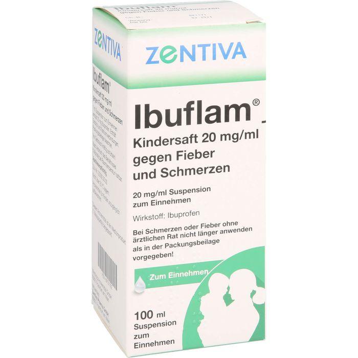 IBUFLAM Kindersaft 20mg/ml gegen Fieber u.Schmerz.