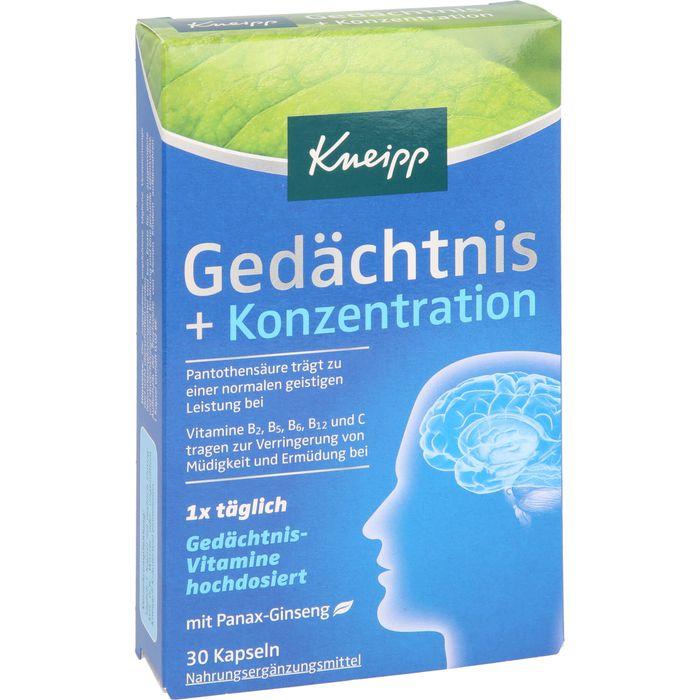 KNEIPP Gedächtnis+Konzentration Kapseln
