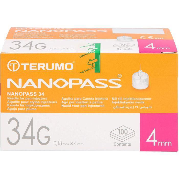 NANOPASS 34 Pen Kanüle 34 G 0,18x4 mm