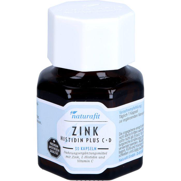 NATURAFIT Zink Histidin plus C+D Kapseln
