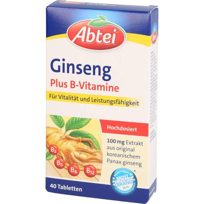 ABTEI Ginseng Plus B-Vitamine Tabletten