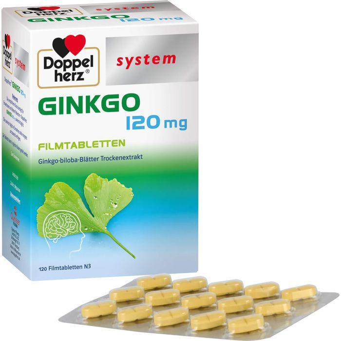 DOPPELHERZ Ginkgo 120 mg system Filmtabletten