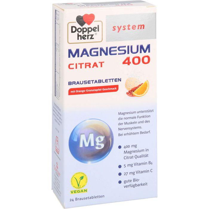 DOPPELHERZ Magnesium 400 Citrat system Brausetabl.