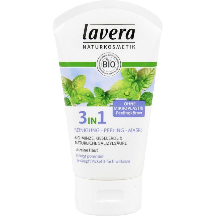 LAVERA 3in1 Reinigung Peeling Maske