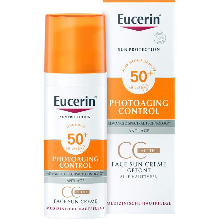 EUCERIN Sun CC Creme getönt mittel LSF 50+