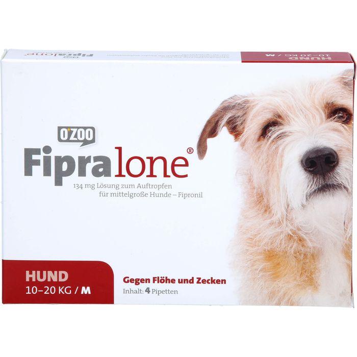 FIPRALONE 134 mg Lsg.z.Auftropf.f.mittelgro.Hunde