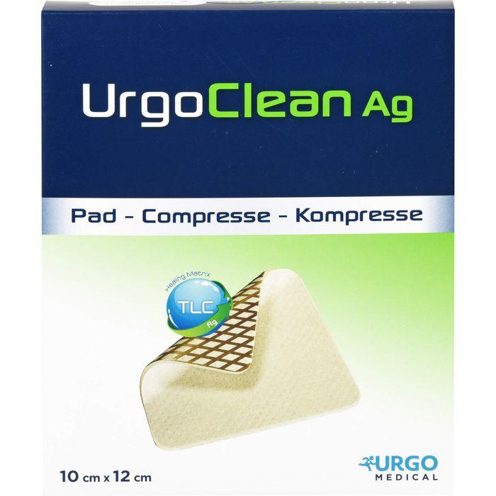 URGOCLEAN Ag Vlieskomp.10x12 cm steril