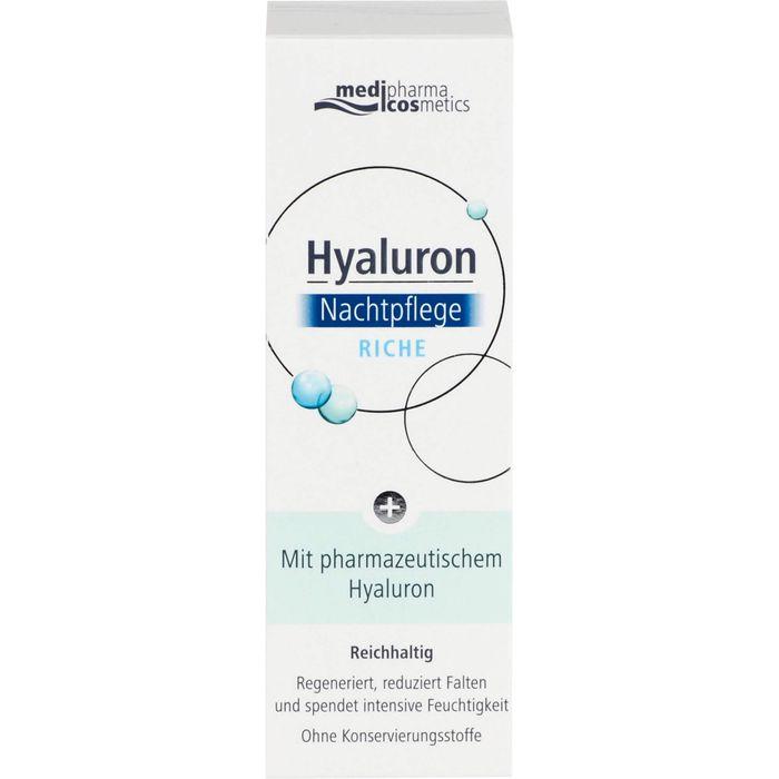 Medipharma Cosmetics HYALURON Nachtpflege riche Creme
