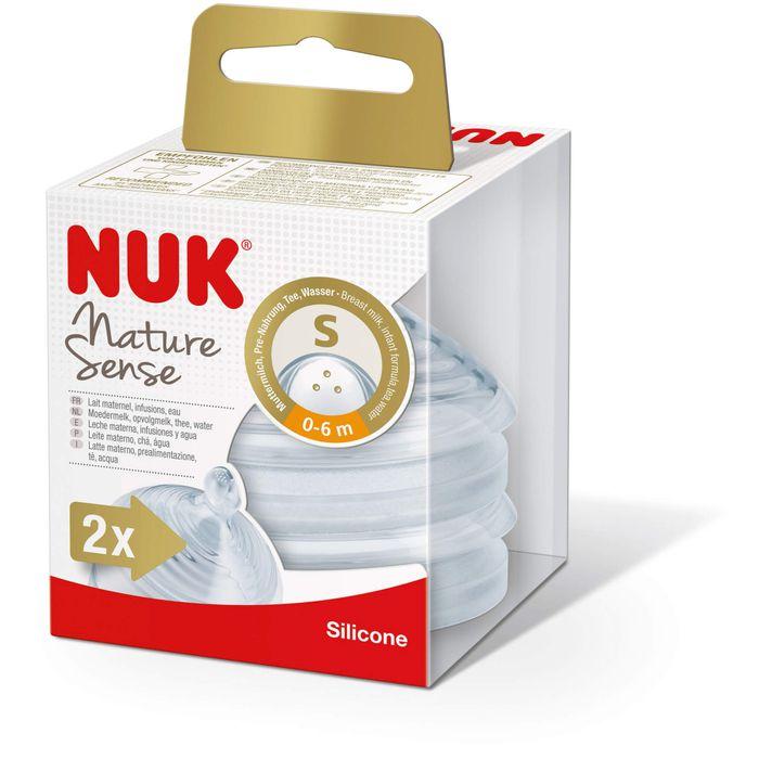 NUK Nature Sense Silikon-Trinksauger 0-6 Mon.S