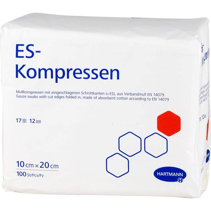ES-KOMPRESSEN unsteril 10x20 cm 12fach