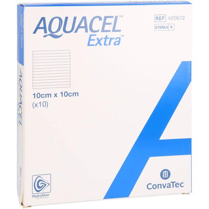 AQUACEL Extra 10x10 cm Verband
