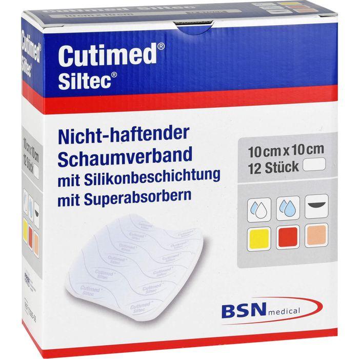 CUTIMED Siltec Schaumverb.10x10 cm nicht haftend
