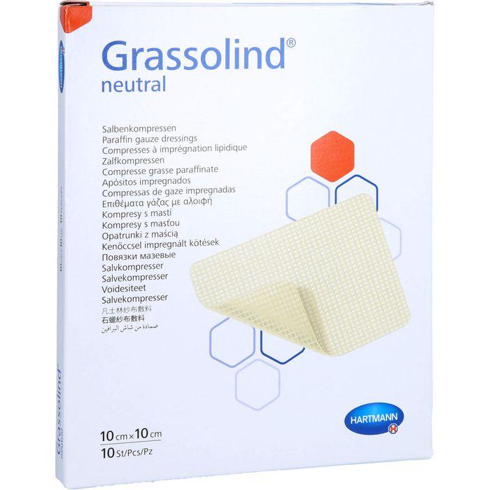 GRASSOLIND Salbenkompressen 10x10 cm steril