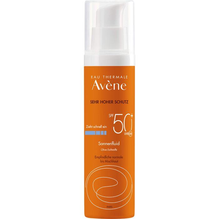AVENE Sonnenfluid SPF 50+ ohne Duftstoffe