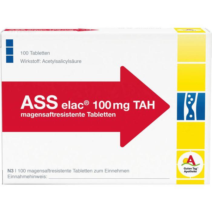 ASS elac 100 mg TAH magensaftresistente Tabletten