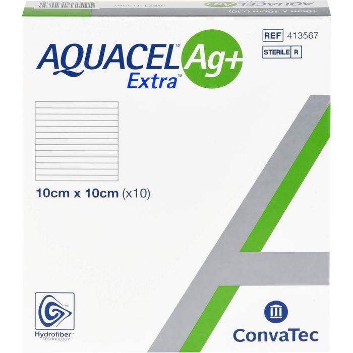 AQUACEL Ag+ Extra 10x10 cm Kompressen