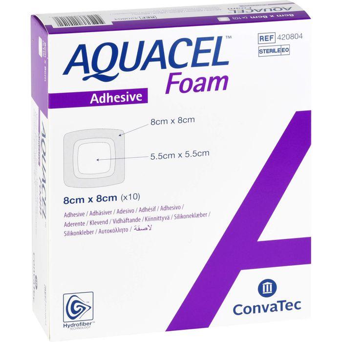 AQUACEL Foam adhäsiv 8x8 cm Verband