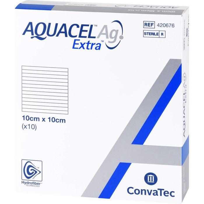 AQUACEL Ag Extra 10x10 cm Kompressen