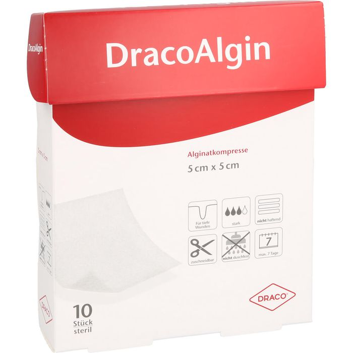 DRACOALGIN 5x5 cm Alginatkompresse