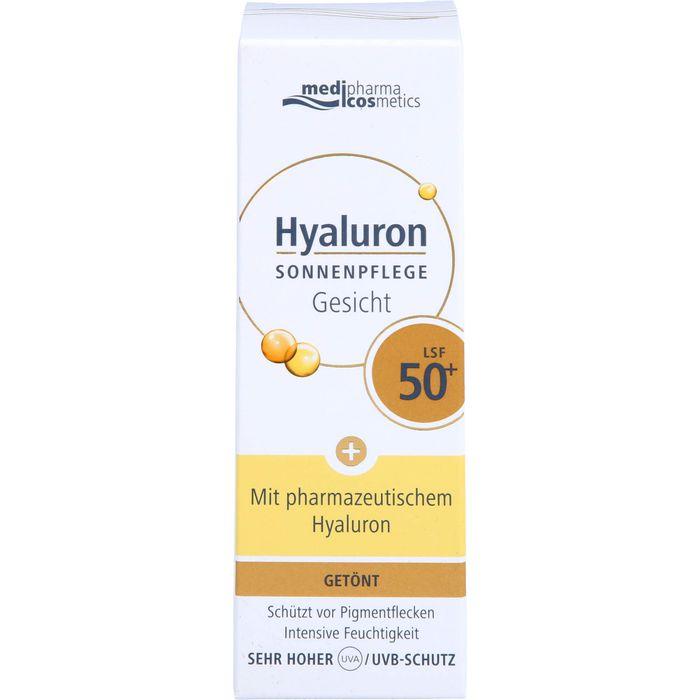 Medipharma Cosmetics HYALURON Sonnenpflege Gesicht LSF 50+ getönt
