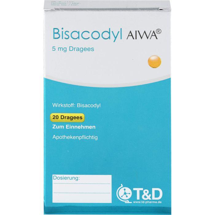 BISACODYL AIWA 5 mg Dragees