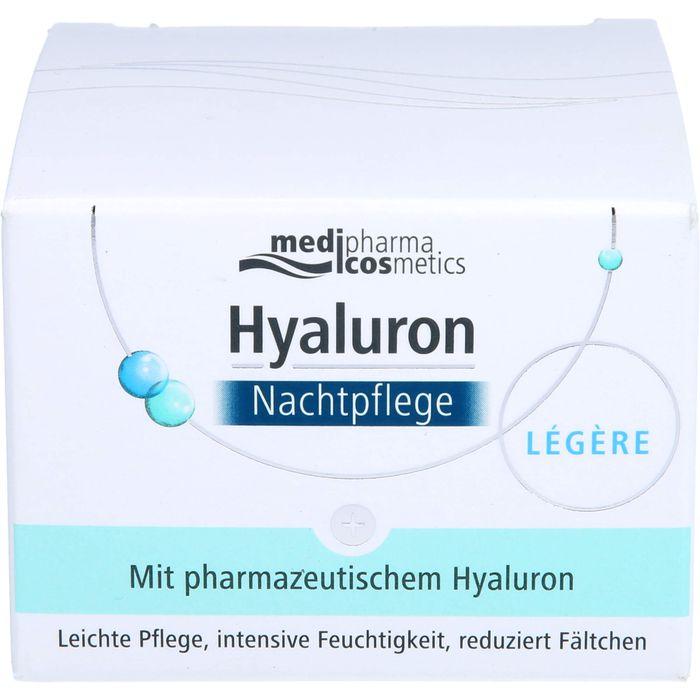 Medipharma Cosmetics HYALURON NACHTPFLEGE legere Creme im Tiegel