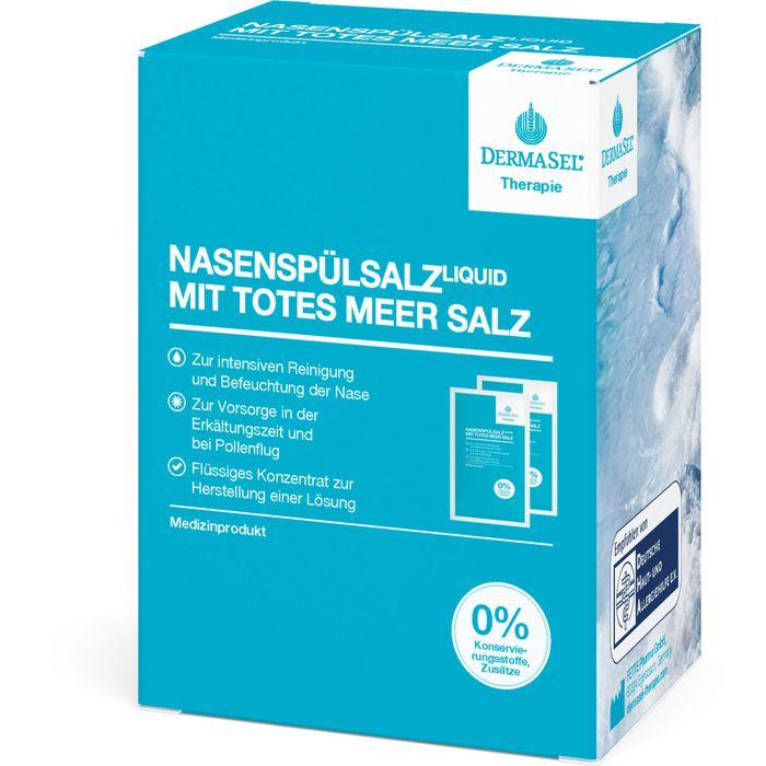 DERMASEL Therapie Totes Meer Nasenspülsalz liquid