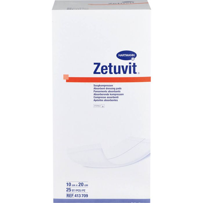 ZETUVIT Saugkompressen steril 10x20 cm
