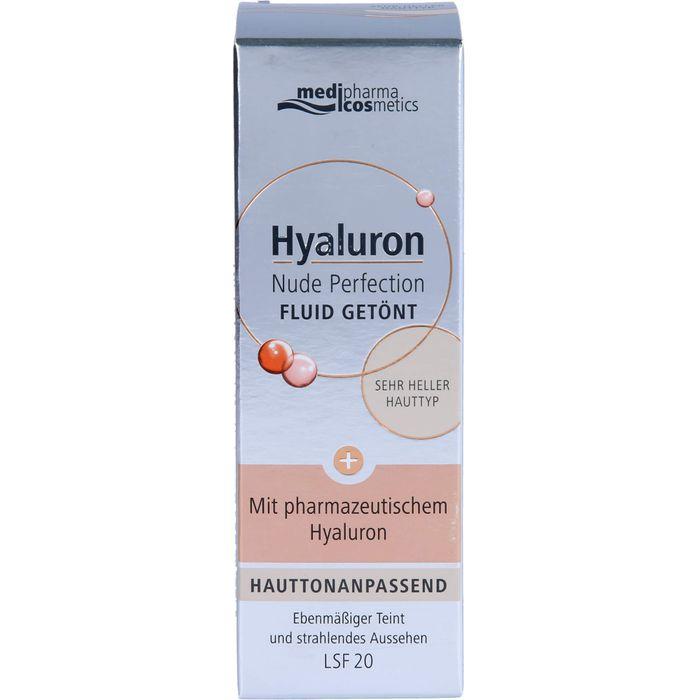 Medipharma Cosmetics HYALURON Nude Perfec.getönt.Fluid LSF 20 sehr hell