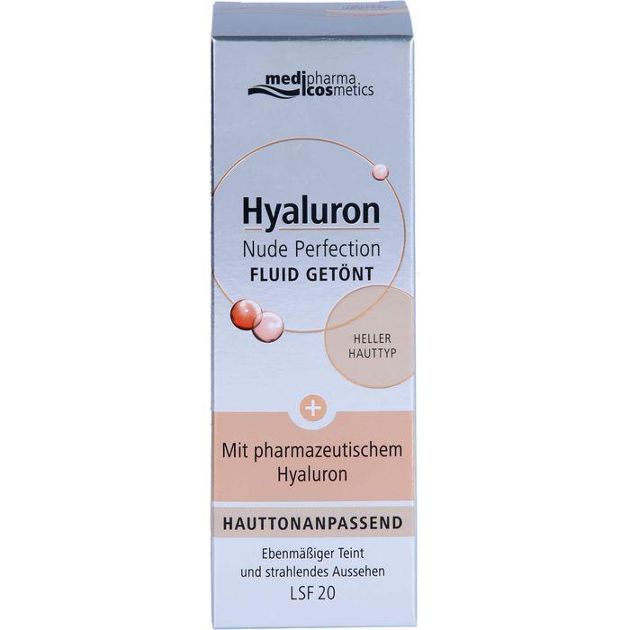 Medipharma Cosmetics HYALURON Nude Perfection getönt.Fluid LSF 20 hell