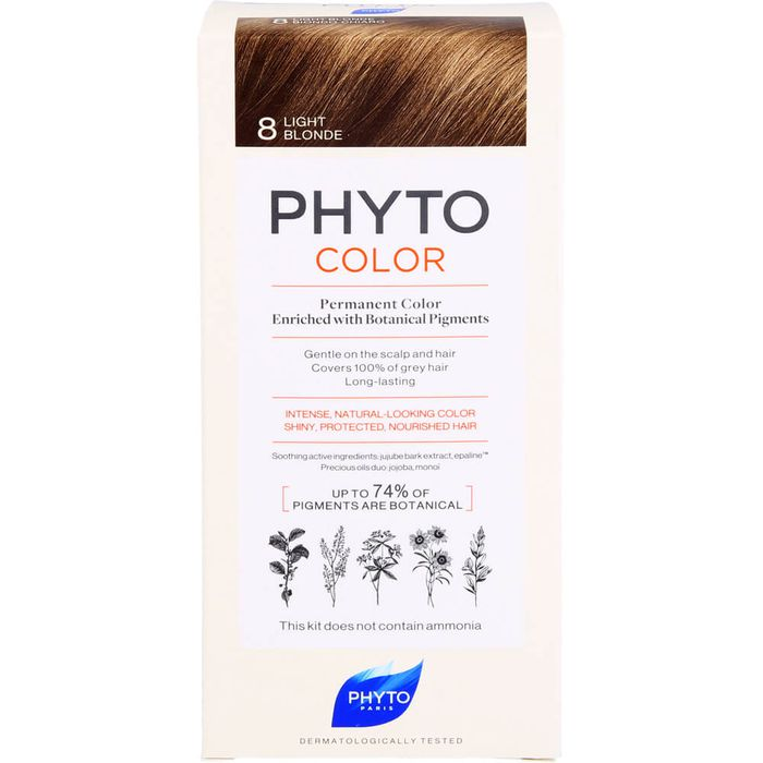 PHYTO PHYTOCOLOR 8 helles blond ohne Ammoniak