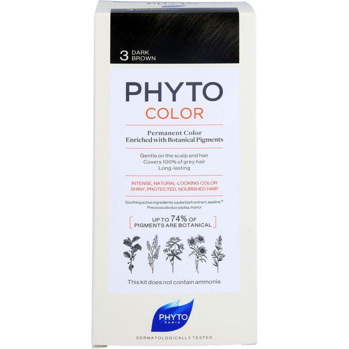 PHYTO PHYTOCOLOR 3 dunkelbraun ohne Ammoniak
