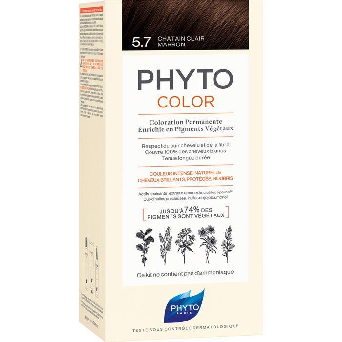 PHYTO PHYTOCOLOR 5.7 helles kastanienbraun ohne Ammoniak