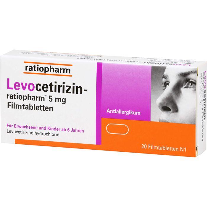 LEVOCETIRIZIN-ratiopharm 5 mg Filmtabletten