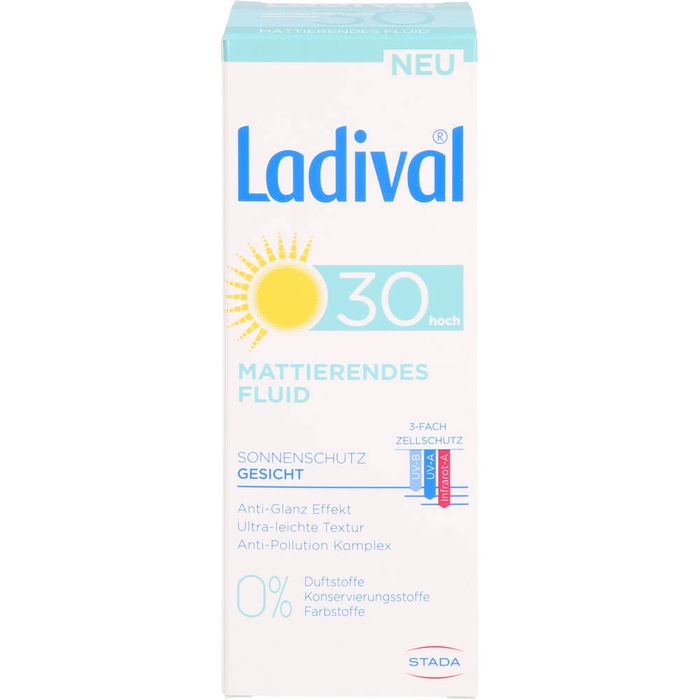 LADIVAL Sonnenschutz Gesicht Fluid matt.LSF 30