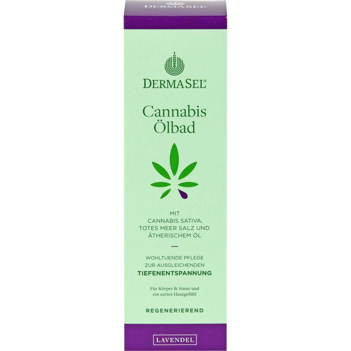 DERMASEL Cannabis Ölbad Limited Edition Lavendel