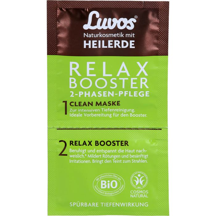 LUVOS Heilerde Relax Booster&Clean Maske 2+7,5ml